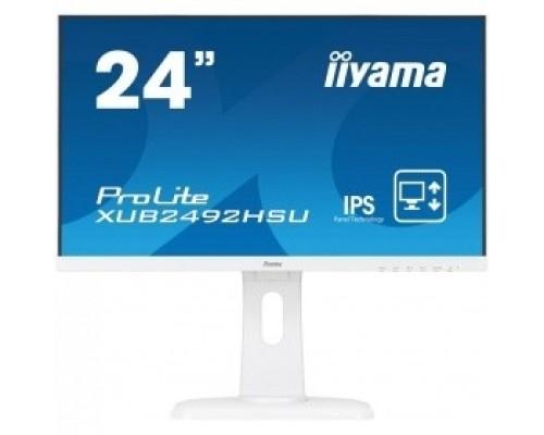 IIYAMA 23.8 XUB2492HSU-W1 белый IPS LED 1920x1080 5ms 16:9 1000:1 250cd 178гр/178гр D-Sub DisplayPort HDMI 2x2W