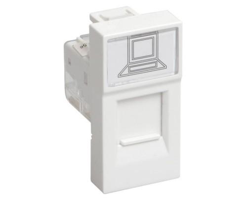 Iek (CKK-40D-RI1-K01 ) РКИ-10-00-П Розетка информационная RJ-45 UTP кат.5e (на 1 модуль) ПРАЙМЕР белая
