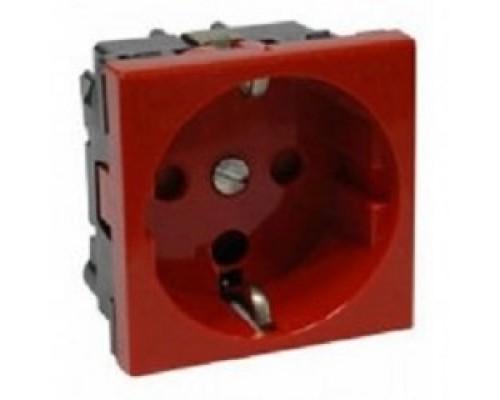 Iek (CKK-40D-RSZK2-K04-K ) РКС-20-32-П-К Розетка с з/к 2к (на 2 модуля) Праймер красная