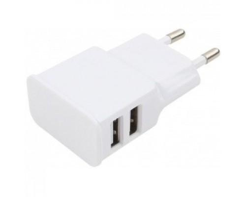 Cablexpert Адаптер питания 100/220V - 5V USB 2 порта, 2.1A, белый (MP3A-PC-11 )