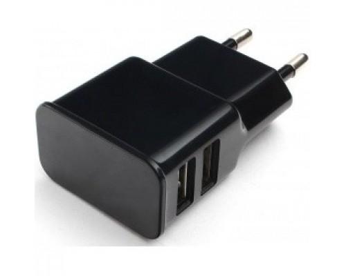 Cablexpert Адаптер питания 100/220V - 5V USB 2 порта, 2.1A, черный (MP3A-PC-12)