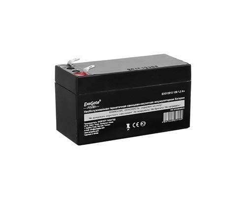 батареи Exegate EP269857RUS Аккумуляторная батарея Power EXG12013, 12В 1.3Ач, клеммы F1