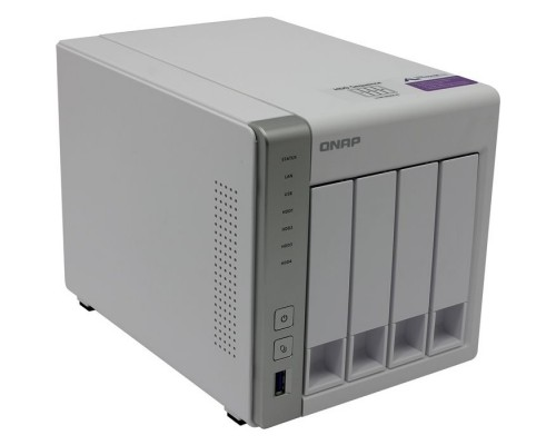 QNAP D4 Сетевое хранилище, 4 Hot-Swap tray w/o HDD, Dualcore CPU AL-212 1,7GHz, 1GB DDR3, 2xGbE, 3xUSB 3,0