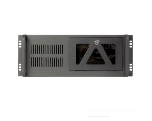 Procase B441-B-0 черный 4U глубина 450мм, внешн 2x5.25, 1x3.5, внутр 7xHDD, MB 12x9,6, без Б/П PS2
