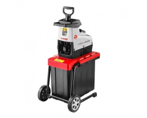 Зубр ЗИЭ-44-2800 Измельчитель садовый электрический бесшумный, р/с 44 мм, контейнер 60 л, 2800 Вт