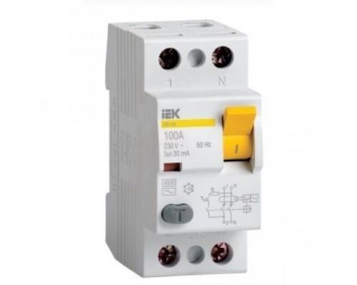 Iek MDV10-2-040-100 ВД1-63 2Р 40А 100мА ИЭК