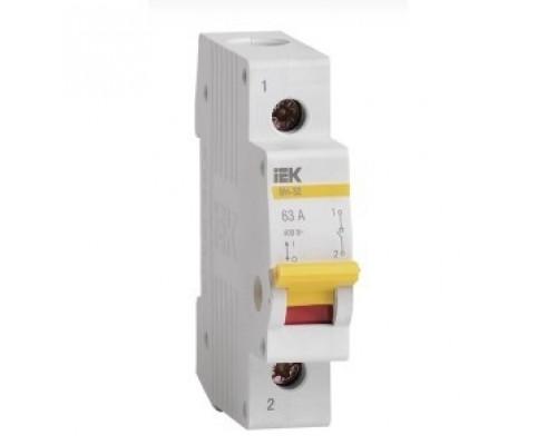 Iek MNV10-1-063 Выключатель нагрузки (мини-рубильник) ВН-32 1Р 63А ИЭК