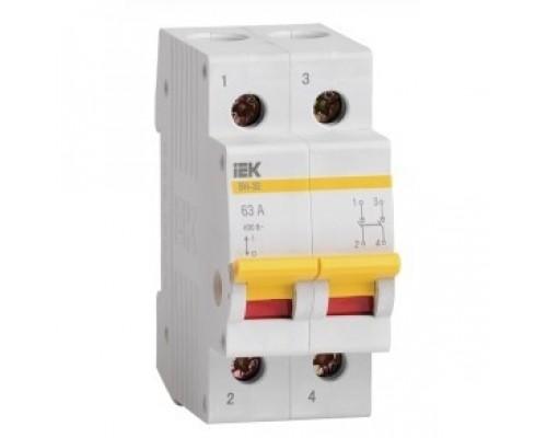 Iek MNV10-2-063 Выключатель нагрузки (мини-рубильник) ВН-32 2Р 63А ИЭК