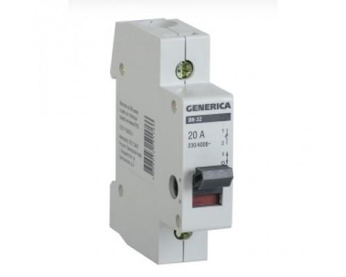 Iek MNV15-1-020 Выключатель нагрузки (мини-рубильник) ВН-32 1Р 20А GENERICA