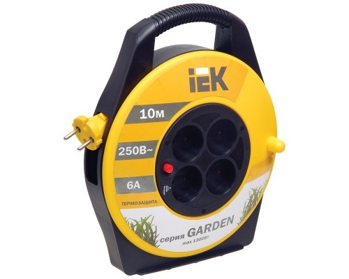 Iek WKP23-06-04-10 Катушка УК10 с т/з 4 места 2Р/10м 2х0,75 мм2 Garden
