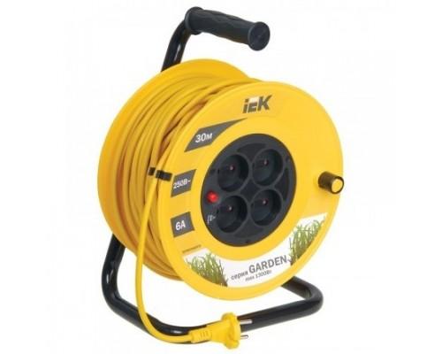 Iek WKP23-06-04-30 Катушка УК30 с т/з 4 места 2Р/30м 2х0,75 мм2 Garden