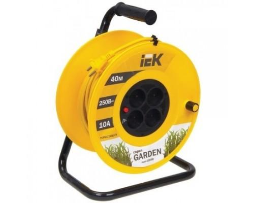 Iek WKP23-10-04-40 Катушка УК40 с т/з 4 места 2Р/40м 2х1,0 мм2 Garden