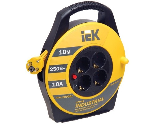 Iek WKP14-10-04-10 Катушка УК10 с т/з 4 места 2 Р + P Е /10м 3х1,0 мм2 Industrial