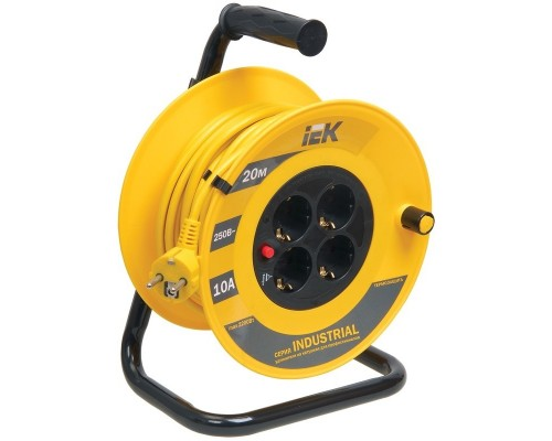 Iek WKP14-10-04-20 Катушка УК20 с т/з 4 места 2 Р + P Е /20м 3х1,0 мм2 Industrial
