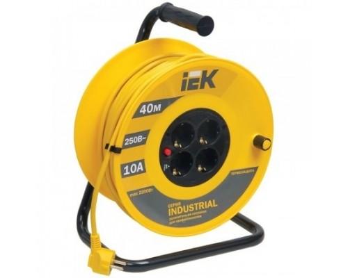 Iek WKP14-10-04-40 Катушка УК40 с т/з 4 места 2 Р + P Е /40м 3х1,0 мм2 Industrial