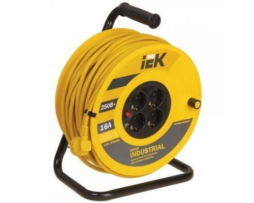 Iek WKP15-16-04-20 Катушка УК20 с т/з 4 места 2 Р + P Е /20м 3х1,5 мм2 Industrial