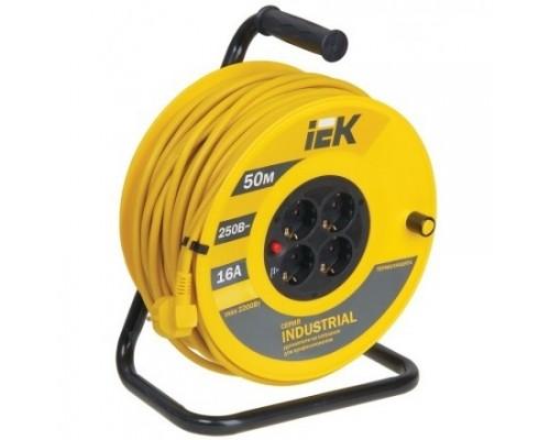 Iek WKP15-16-04-50 Катушка УК50 с т/з 4 места 2 Р + P Е /50м 3х1,5 мм2 Industrial