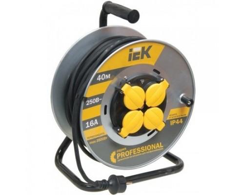 Iek WKP16-16-04-40-44 Катушка УК40 на мет с т/з 4 места 2 Р + P Е /40м КГ 3х1,5мм2 IP44 Professional