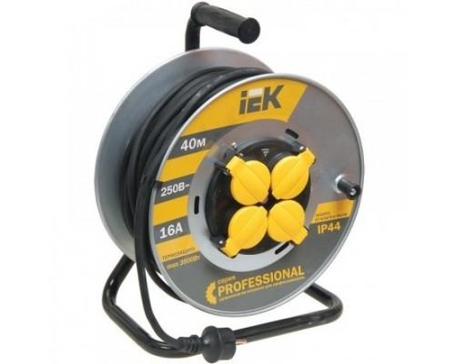 Iek WKP17-16-04-40-44 Катушка УК40 на мет с т/з 4 места 2 Р + P Е /40м КГ 3х2,5мм2 IP44 Professional