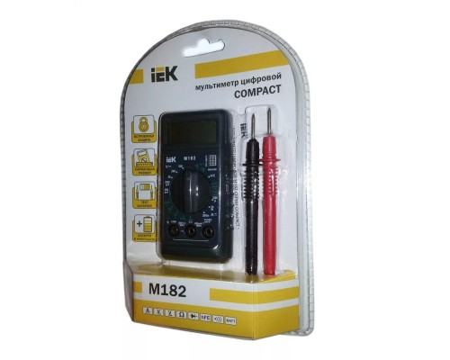 Iek TMD-1S-182 Мультиметр цифровой Compact M182 IEK