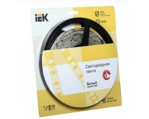 Iek LSR2-1-030-65-1-05 Лента LED 5м блистер LSR-5050WW30-7,2-IP65-12V теплый белый