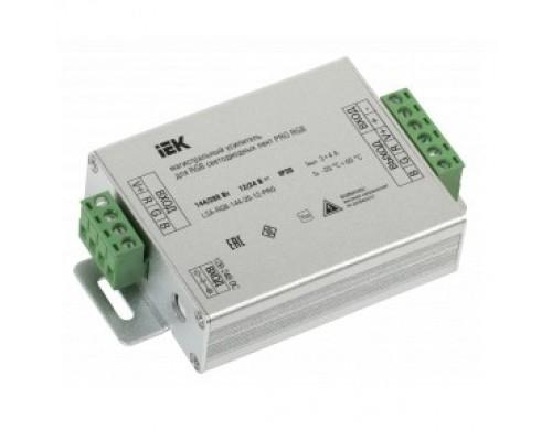 Iek LSA-RGB-144-20-12-PRO Магистральный усилитель PRO RGB 3 канала 12В, 4А, 144Вт IEK