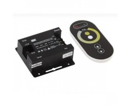 Iek LSC1-W-WW-144-RF-20-12-B Контроллер с ПДУ радио (черный) W-WW 2 канала 12В, 6А, 144Вт IEK