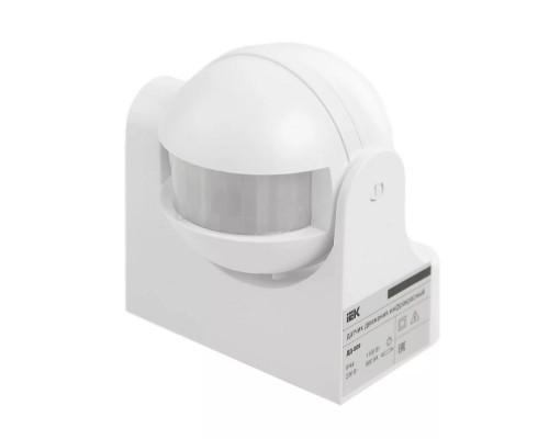 Iek LDD10-009-1100-001 Датчик движения ДД 009 белый, макс. нагрузка 1100Вт, угол обзора 180град., дальность 12м, IP44, ИЭК