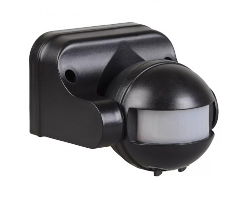 Iek LDD10-009-1100-002 Датчик движения ДД 009 черный, макс. нагрузка 1100Вт, угол обзора 180град., дальность 12м, IP44, ИЭК