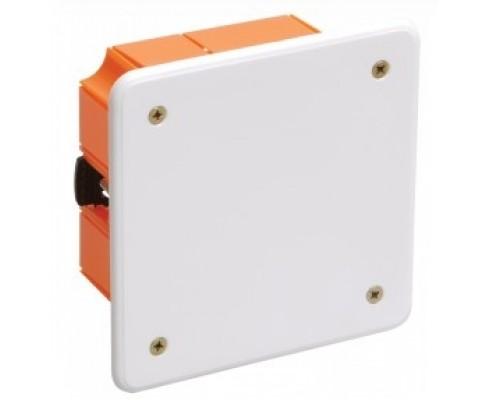 Iek UKG11-092-092-045-P Коробка КМ41022 распаячная 92х92 x 45мм для полых стен (с саморезами, пластиковые лапки, с крышкой )