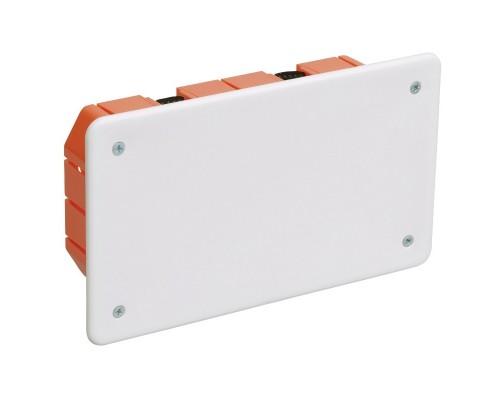 Iek UKG11-172-096-045-P Коробка КМ41026 распаячная 172х96 x 45мм для полых стен (с саморезами, пластиковые лапки, с крышкой )