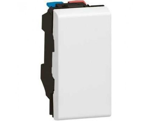 Legrand 077000 Выключатель - Программа Mosaic - 10 AX - 250 В~ - 1 модуль - белый