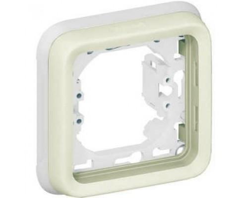 Legrand 069692 Суппорт с рамкой для встроенного монтажа - Программа Plexo - белый - 1 пост