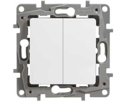 Legrand 672202 Выключатель двухклавишный - Etika - 10 A - 250 В~ - белый