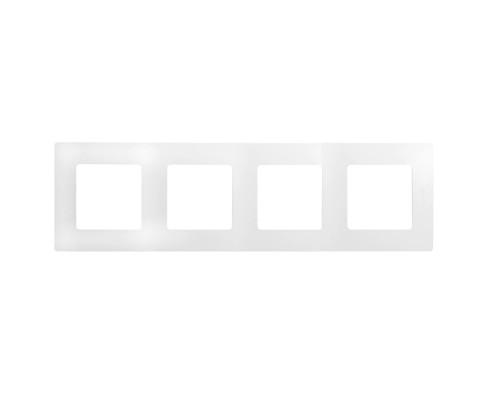Legrand 672504 Рамка - 4 поста - Etika - белый