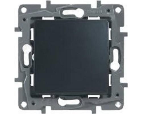 Legrand 672601 Выключатель одноклавишный - автоматические клеммы - Etika - 10 AX - 250 В~ - антрацит