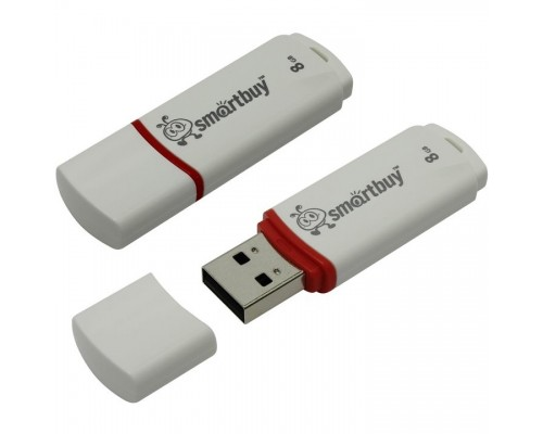 Smartbuy USB Drive 8Gb Crown White SB8GBCRW-W