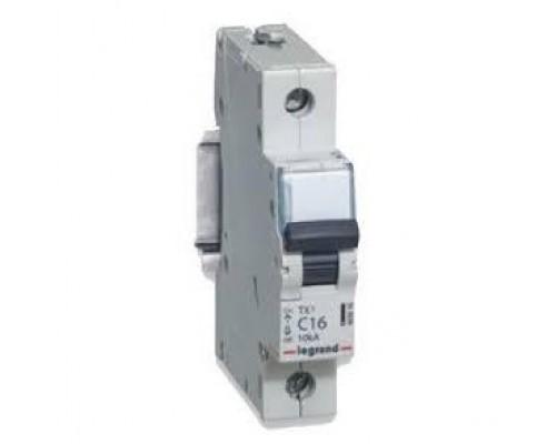 Legrand 403920 Автоматический выключатель TX3 6000 - 10 кА - тип характеристики C - 1П - 230/400 В~ - 40 А - 1 модуль
