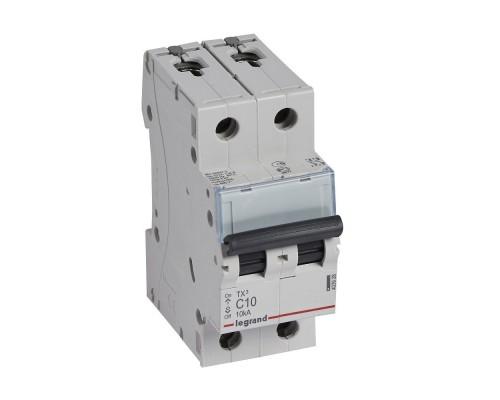 Legrand 403935 Автоматический выключатель TX3 6000 - 10 кА - тип характеристики C - 2П - 230/400 В~ - 50 А - 2 модуля