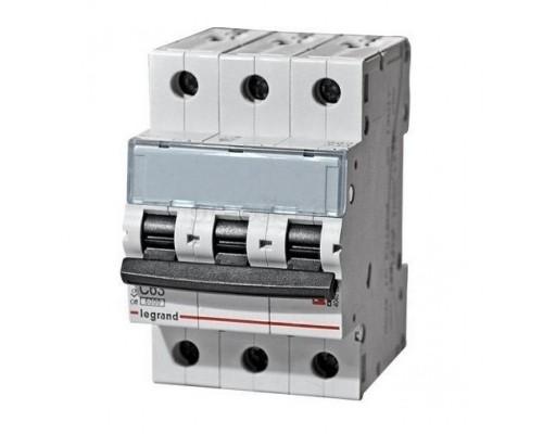 Legrand 404053 Автоматический выключатель TX3 6000 - 6 кА - тип характеристики C - 3П - 400 В~ - 6 А - 3 модуля