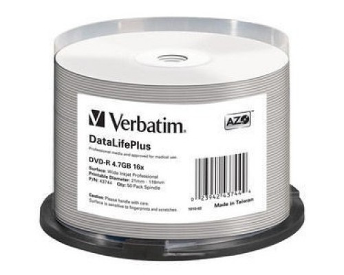 Verbatim DVD-R 4,7 GB 16x CB/50 Full Ink Print Professional (43744)
