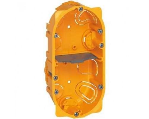 Legrand 080042 Коробка многоместная - Программа Batibox - для сухих перегородок - 2-местная - 4/5 модулей - глубина 40