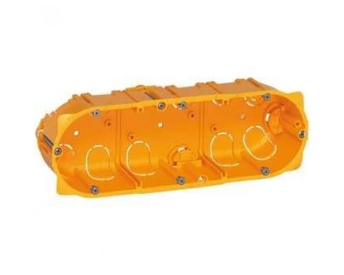 Legrand 080053 Коробка многоместная - Программа Batibox - для сухих перегородок - 3-местная - 6/8 модулей - глубина 50