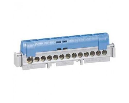 Legrand 004844 Клеммная колодка IP 2X - нейтраль - синяя - 1 x 6-25 мм- 12 x 1,5-16 мм- длина 113 мм