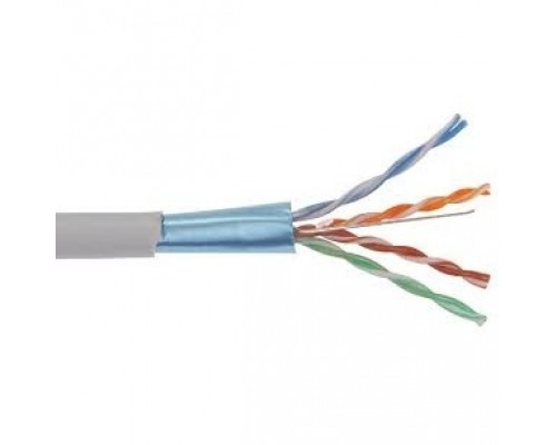 ITK LC1-C5E02-121 Кабель связи витая пара U/UTP, кат.5E 2 x 2 x 24AWG solid, LSZH, 500м, серый