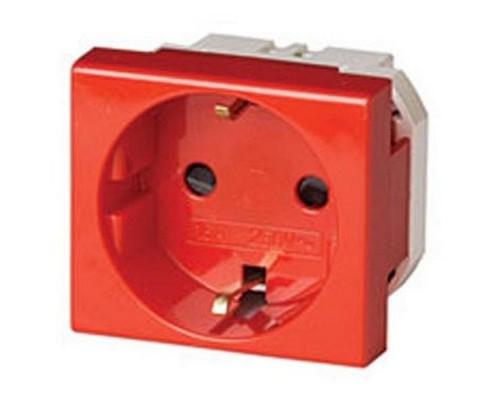 Dkc 45015 Розетка силовая 2Р + Е, со шторками, «Viva», 2 мод., красная
