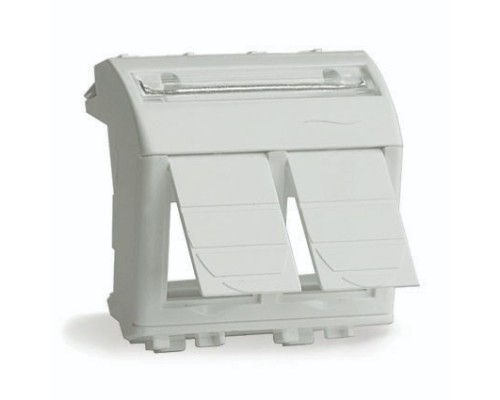 Dkc 76617B Адаптер для 2-х информационных разъемов Systimax, белый, 2мод