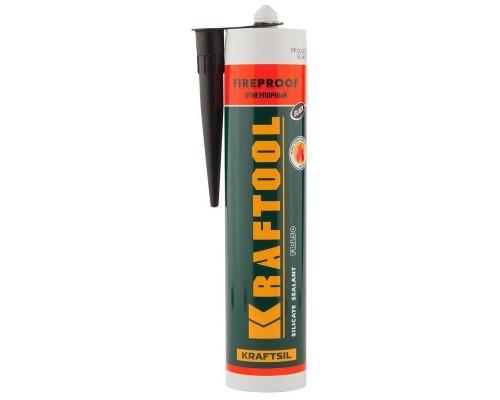 KRAFTOOL Герметик KRAFTFLEX FR150 силикатный огнеупорный +1500 С, жаростойкий, черный, 300мл 41260-4