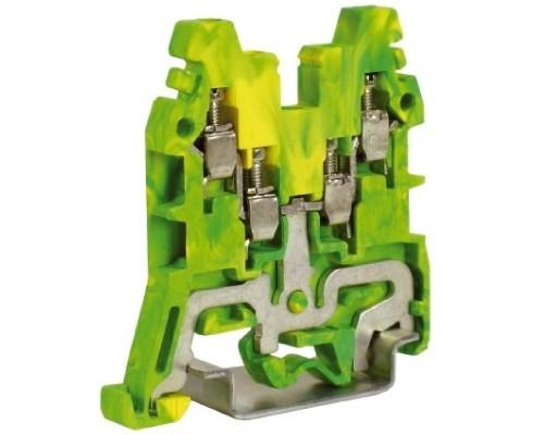 Dkc ZCE110 CBE.2, зажим для заземления желт.зелен 2,5 кв.мм 2 ввод/2вывода