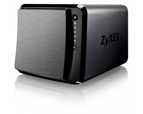 ZYXEL NAS542-EU0101F Сетевое хранилище, 4 отсека для HDD (max. 48Gb), 2xGLAN, Link Aggregation, 3xUSB3.0, слот для карт SD/XC